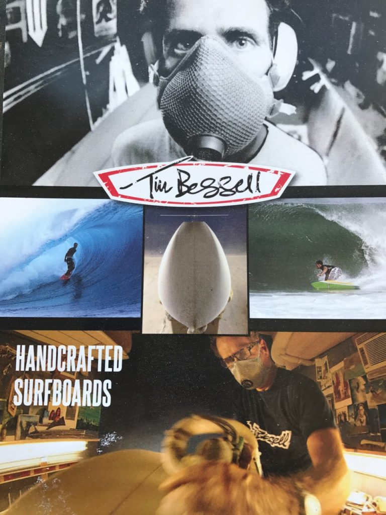 ABOUT TIM BESSELL SURFBOARD