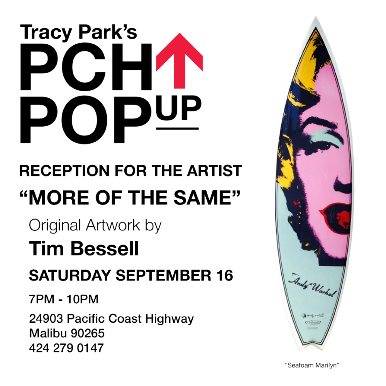 PCH pop up Tim Bessell Warhol